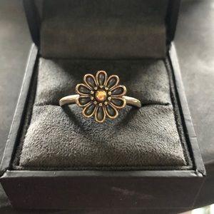 Pandora Flower Sterling Silver / 14k Ring